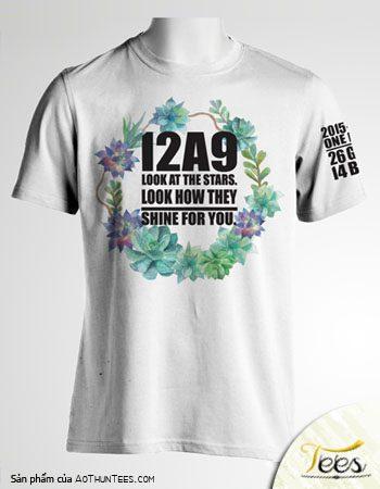 Mẫu áo thun lớp 12A9 – Nguyễn Thị Diệu