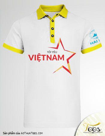 Mẫu áo thun Tôi Yêu Việt Nam – Công ty Hải Minh