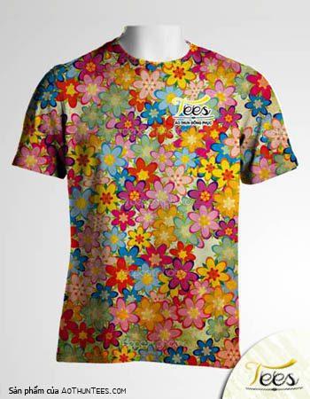 Mẫu áo thun đồng phục họa tiết Floral Spring 04