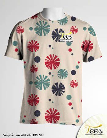Mẫu áo thun đồng phục họa tiết Floral Spring 11