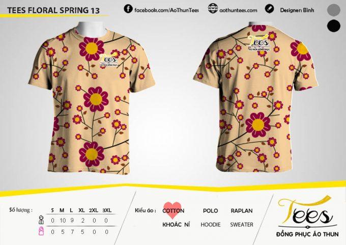 Mẫu áo thun đồng phục họa tiết Floral Spring 13