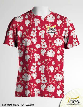 Mẫu áo thun đồng phục họa tiết Floral Spring 15