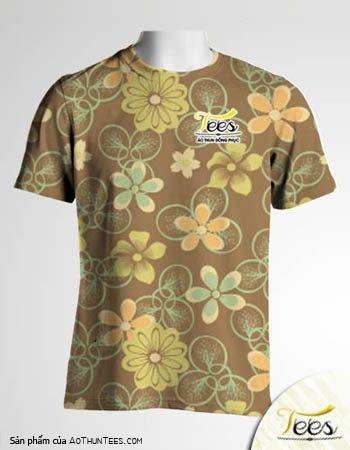 Mẫu áo thun đồng phục họa tiết Floral Spring 18