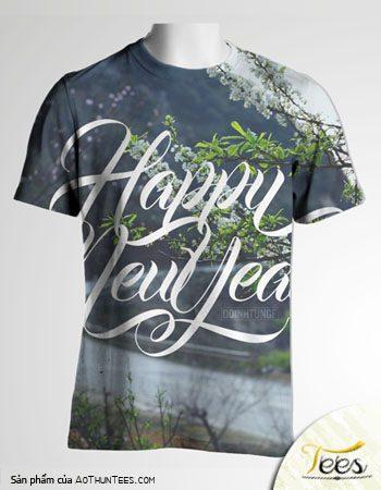 """Mẫu áo thun """"Happy New Year"""""""