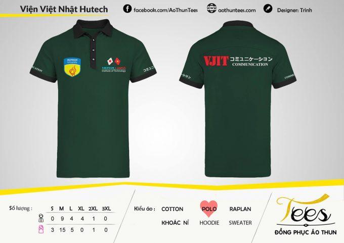 Áo thun sự kiện VJIT của trường ĐH Hutech