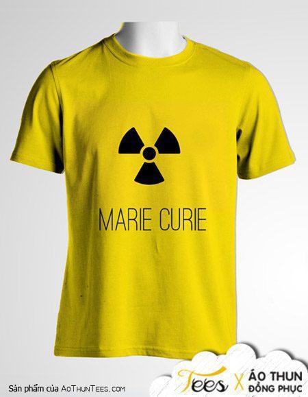 """Mẫu áo đồng phục Marie Curie """"biểu tượng phóng xạ"""""""