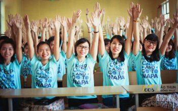 Sắc xanh áo thun lớp KH13HCH3 – Học viện Hành chính Quốc gia