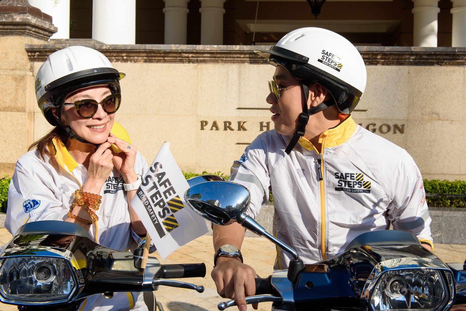 Ao thun Safe steps Road Safety 17 - Bừng sáng sự kiện Safe Steps của Liên Hợp Quốc tại Việt Nam với áo thun sự kiện