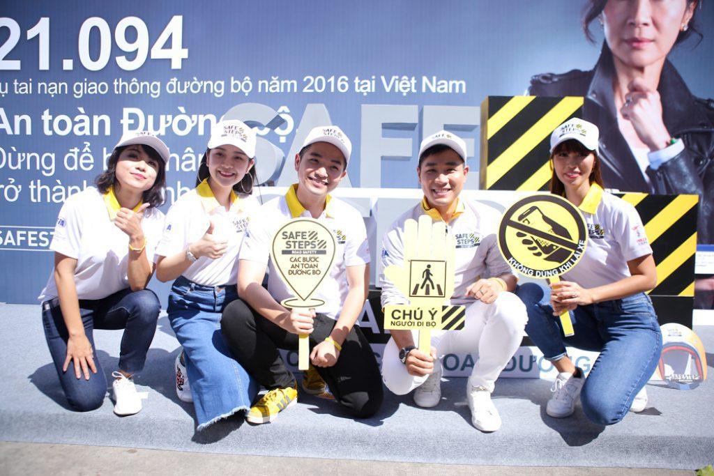 Ao thun Safe steps Road Safety 20 - Bừng sáng sự kiện Safe Steps của Liên Hợp Quốc tại Việt Nam với áo thun sự kiện