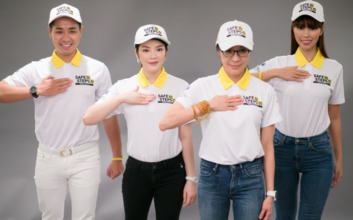 Ao thun Safe steps Road Safety 5b - Bừng sáng sự kiện Safe Steps của Liên Hợp Quốc tại Việt Nam với áo thun sự kiện