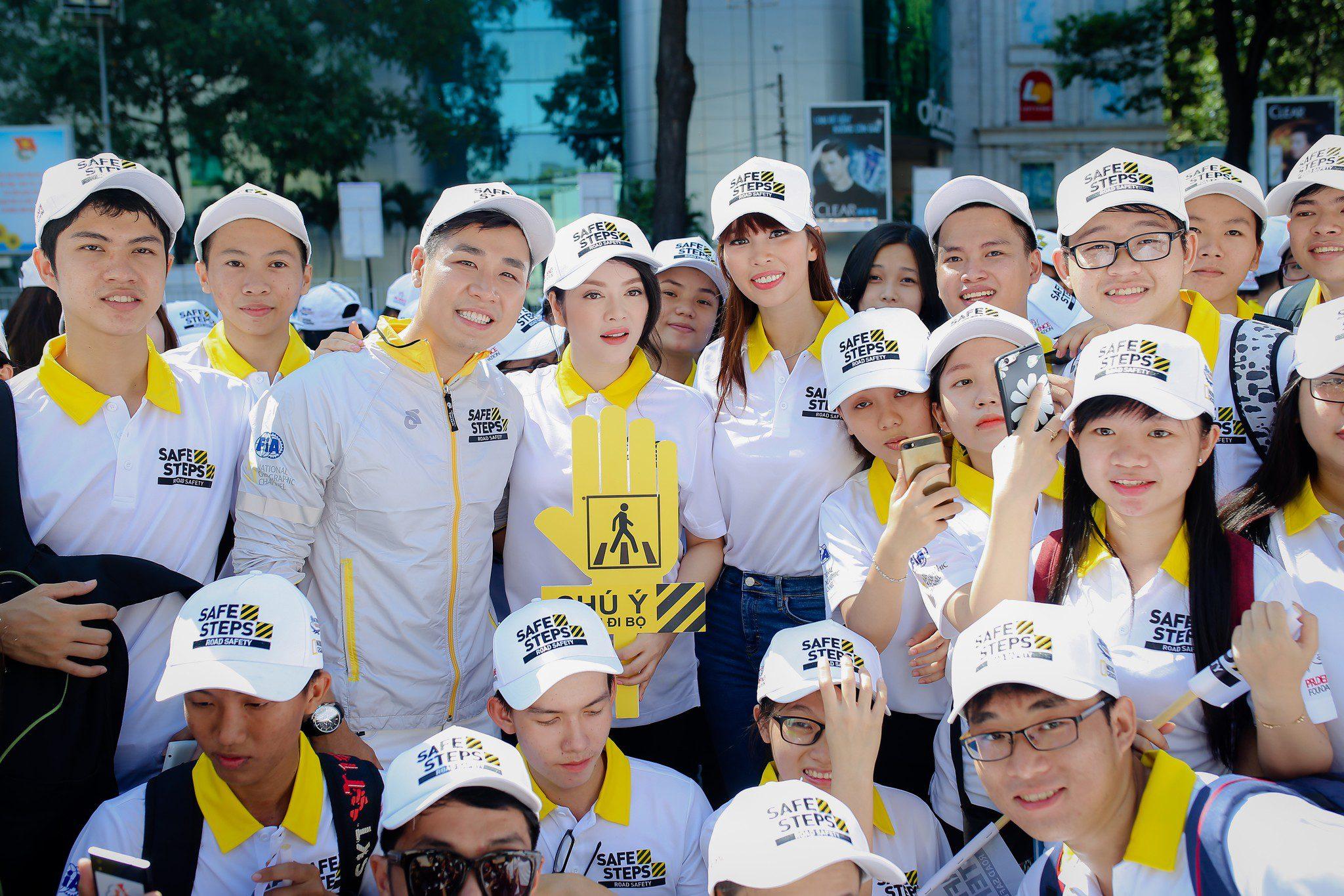 Ao thun Safe steps Road Safety 9 - Bừng sáng sự kiện Safe Steps của Liên Hợp Quốc tại Việt Nam với áo thun sự kiện