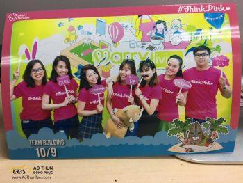 Ửng hồng áo thun Teambuilding #ThinkPink – Marry.vn