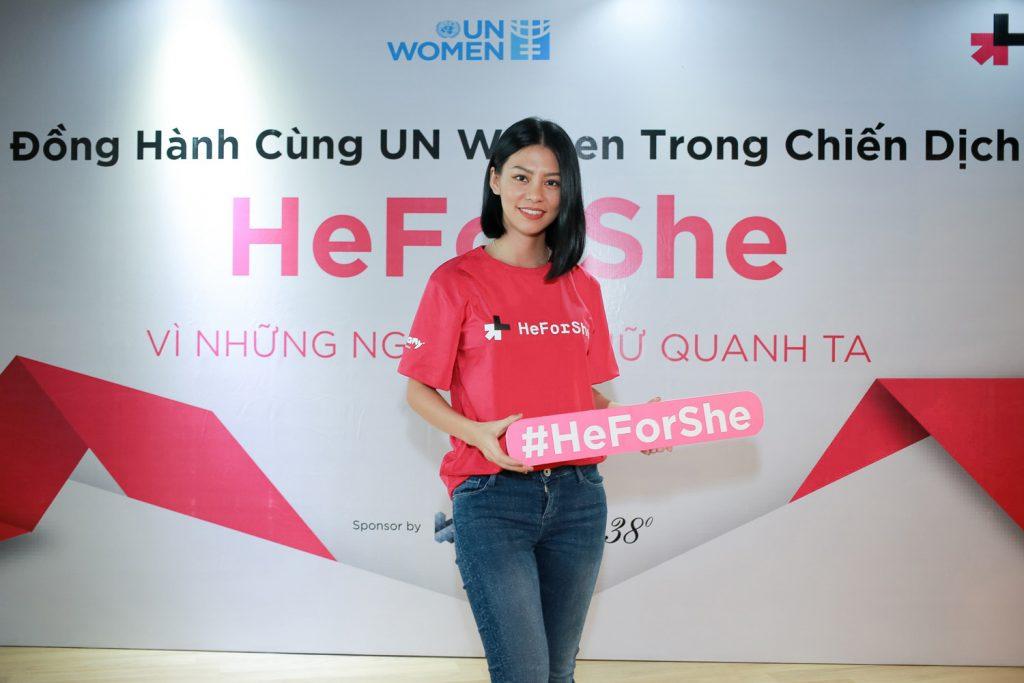 heforshe 14 Lan Huong Glee 2 1024x683 - Áo thun sự kiện chiến dịch #HeForShe - UN Women Việt Nam