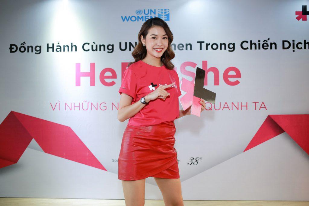 heforshe2 A hau Thuy Van 2 1024x683 - Áo thun sự kiện chiến dịch #HeForShe - UN Women Việt Nam