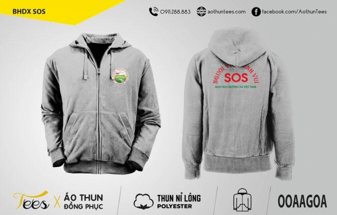 Áo khoác đồng phục hội Bạn Hữu Đường Xa – SOS