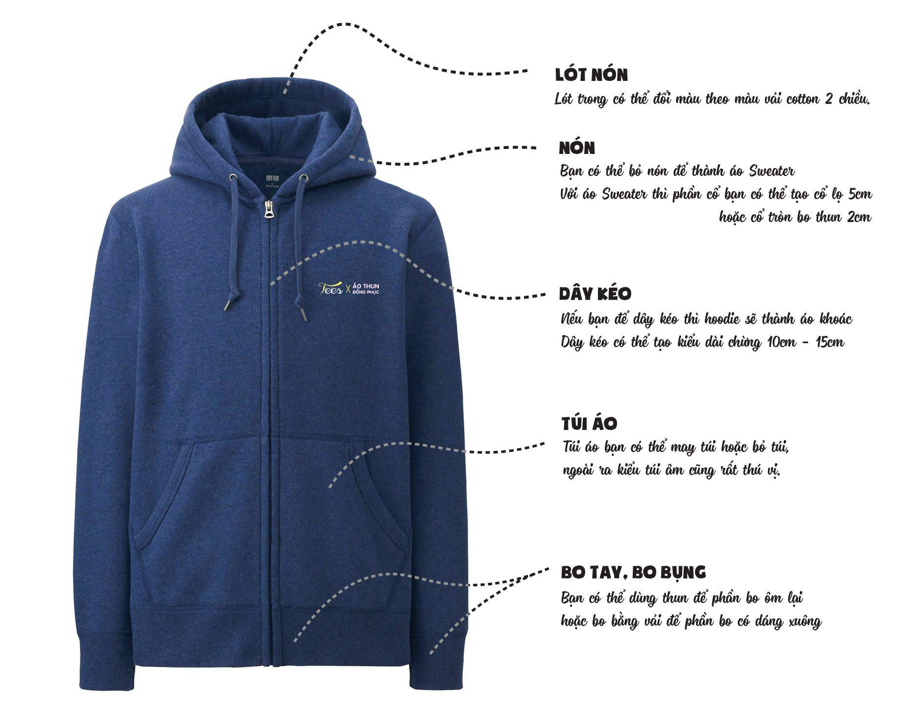 file thiet ke - Giới thiệu sản phẩm áo thun Hoodie - Sweater đồng phục