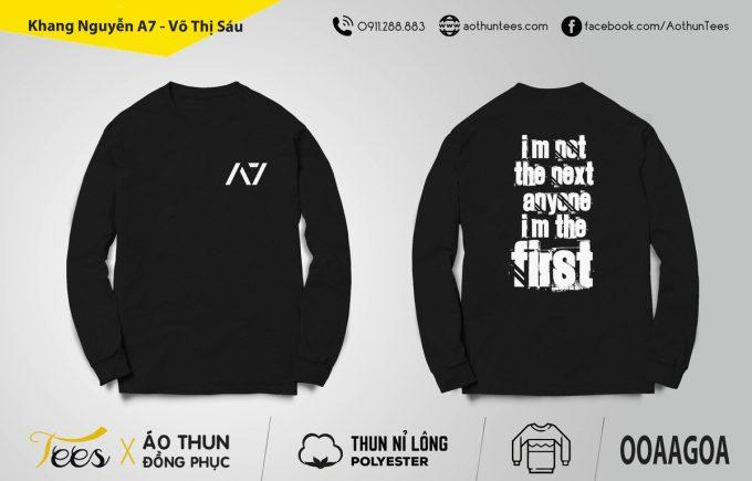 Áo sweater đồng phục lớp 12A7 trường THPT Lê Minh Xuân