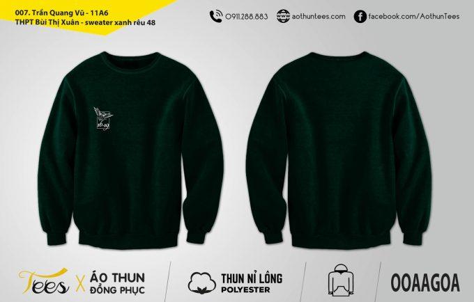 Áo sweater đồng phục lớp 11A6 – THPT Bùi Thị Xuân