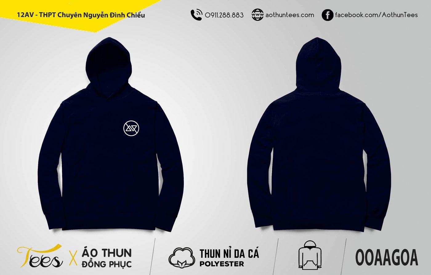 Áo hoodie đồng phục lớp 12AV – THPT Chuyên Nguyễn Đình Chiểu