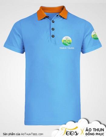 Áo thun Bạn Hữu Đường Xa – Mẫu áo tặng màu xanh lơ