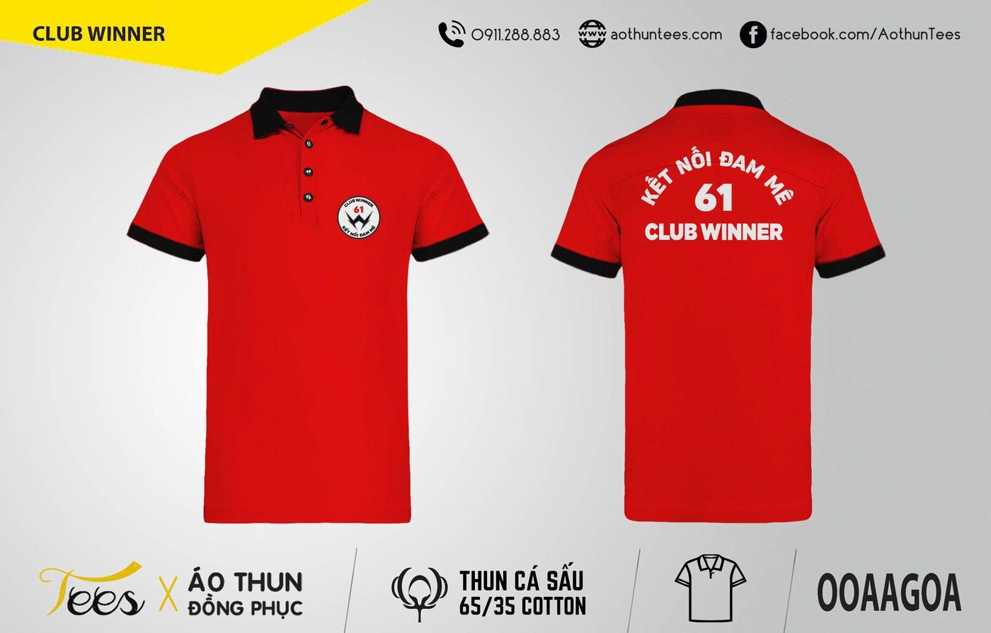 Áo thun đồng phục Club Winner