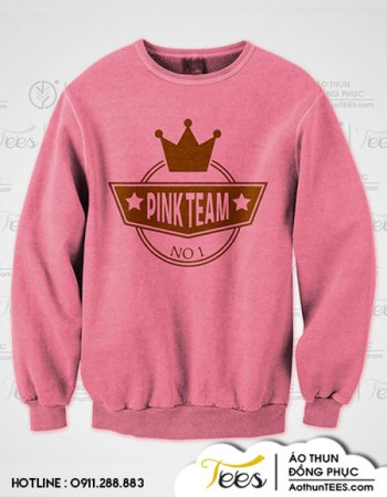 Áo sweater nhóm bạn #TeamPinkHappy