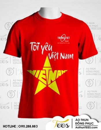 Áo thun du lịch cổ động Việt Nam vô địch – Công ty Transviet.