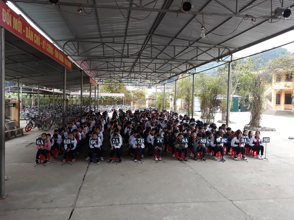 Áo thun lớp 9B – THCS thị trấn Na Hang