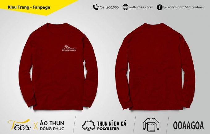 Áo sweater lớp 12A6 – trường THPT Nguyễn Du