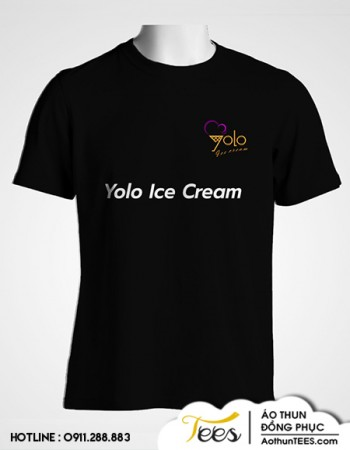 Áo thun đồng phục quán kem Yolo Ice Cream