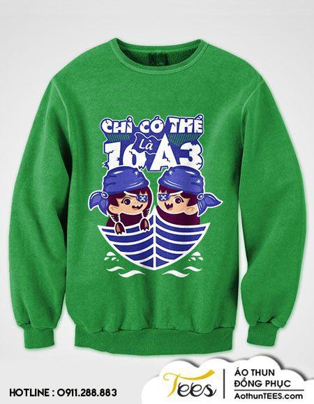 Áo sweater lớp 10A3 – THPT Trưng Vương