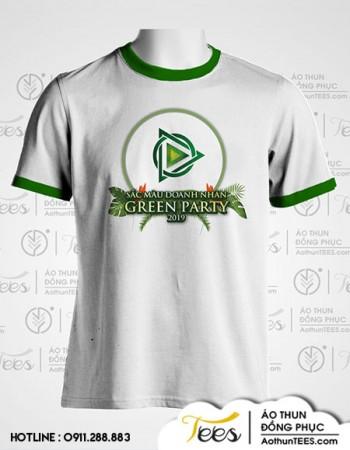 """Green Party 2 350x450 - Áo thun chương trình """"Sắc màu doanh nhân - Green Party"""""""