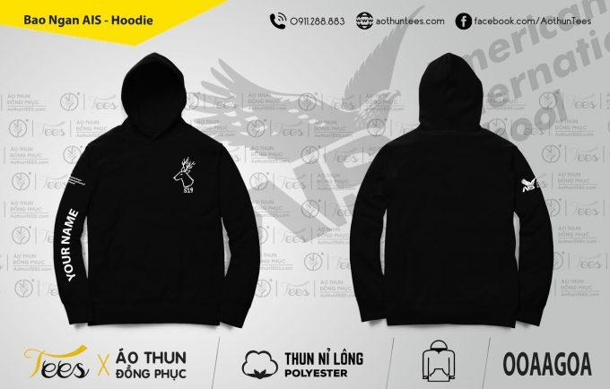 Áo hoodie đồng phục trường Quốc Tế Mỹ AIS