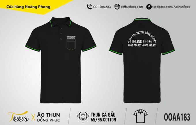 Áo thun đồng phục Cửa hàng Hoàng Phong