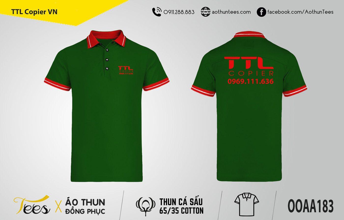 Áo thun đồng phục TTL Copier VN