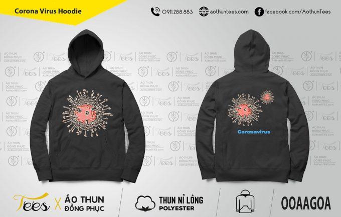 Áo hoodie Corona Virus