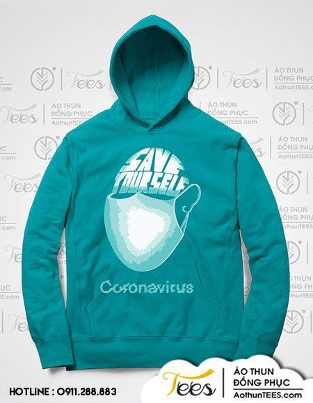Áo hoodie phòng dịch bệnh Corona Virus