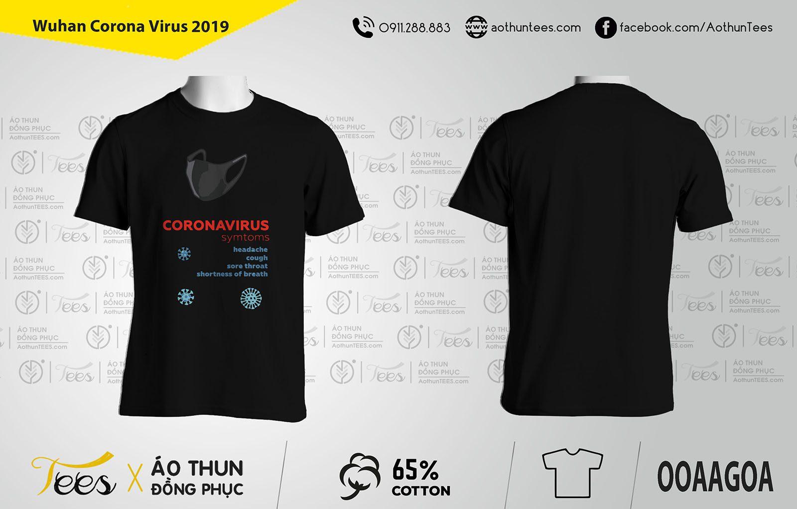 Áo thun phòng ngừa dịch bệnh Wuhan Corona Virus 2019