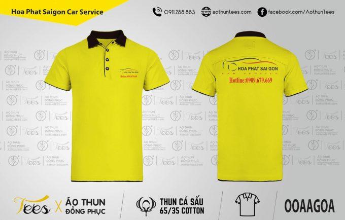 Áo thun đồng phục Hòa Phát Saigon Car Service