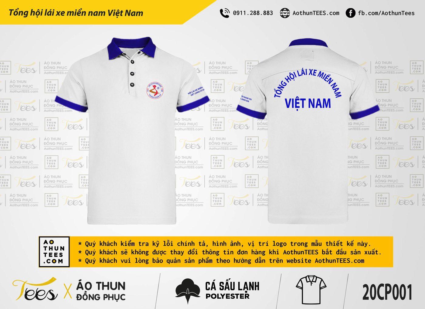 Áo thun đồng phục – Tổng Hội lái xe miền Nam Việt Nam