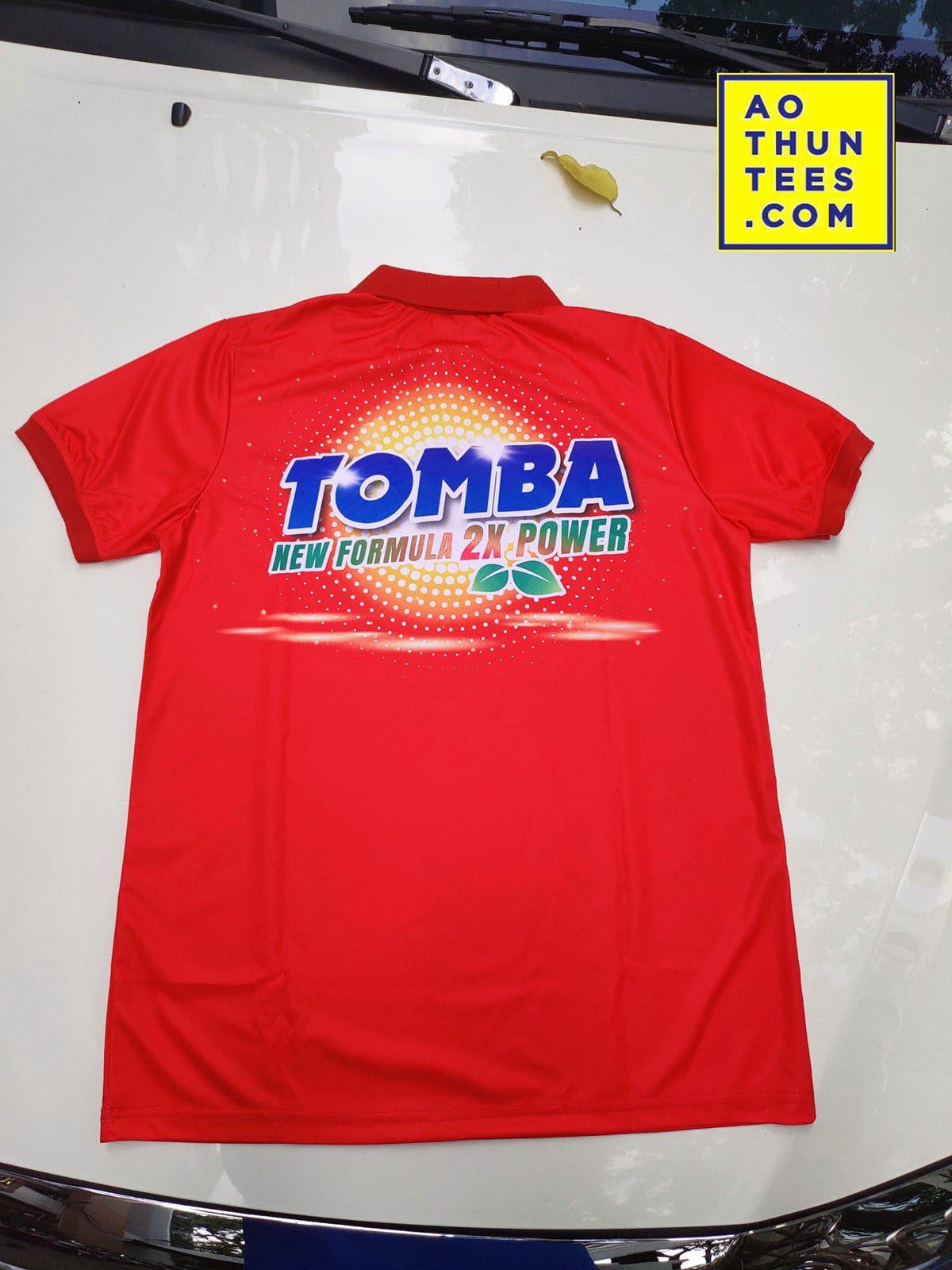 Áo thun đồng phục thương hiệu bột giặt TOMBA