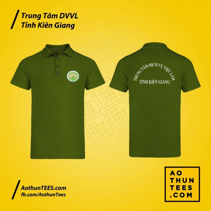 Áo thun đồng phục Trung tâm Dịch vụ việc làm tỉnh Kiên Giang – Mẫu 1