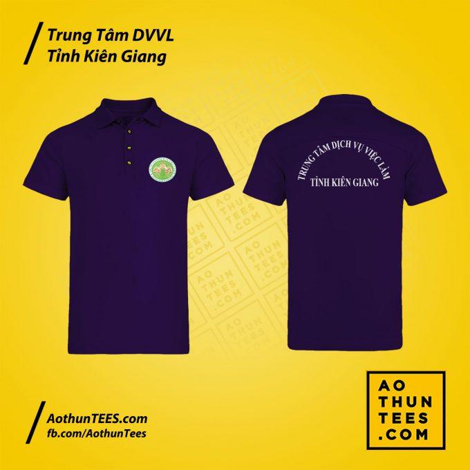 Áo thun đồng phục Trung tâm Dịch vụ việc làm tỉnh Kiên Giang – Mẫu 2