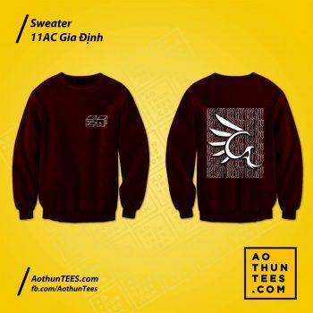 Áo sweater lớp 11CA trường THPT Gia Định