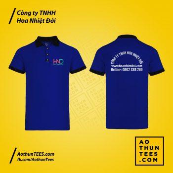 Áo thun đồng phục Công ty TNHH Hoa Nhiệt Đới – Mẫu tay ngắn